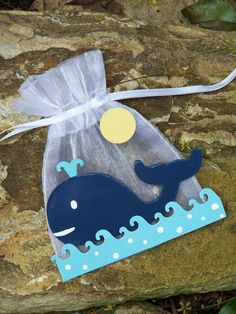 Whale birthday and baby shower favor bags 10 by FavorsByGirlybows, $16.50