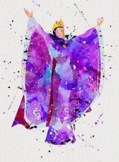 Evil queen watercolor