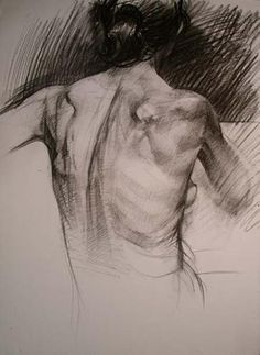 The Best Paper for Charcoal Drawing. Female Posterior by Benjamin Shamback, 2005, charcoal, 30 x 20.