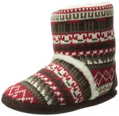 8d5dfb9203e32 Enimay Women's Slipper Boots Lounge House Relaxed Shoes Winter Snow Flakes  Hearts. See more. Muk Luks Women's Sherpa Slipper Bootie, Crazy Fair  Isle/Candy ...