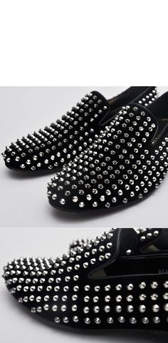Louboutin Rollerball Stud Loafer Shoes.