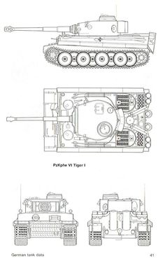 "Blueprint of a Panzerkampfwagen VI ""Tiger"" Ausführung E (English: Armoured Car VI ""Tiger"" Variant E) (Abbreviation: PzKpfw VI Ausf. Otherwise known as the ""Tiger Armed with a KwK 36 cannon and two MG Rc Tank, Tank Drawing, Patton Tank, Military Drawings, Tiger Tank, Model Tanks, Armored Fighting Vehicle, Military Modelling, Tank Design"