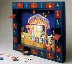 Magnetic Nativity Advent Calendar - something to consider making...