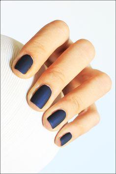 Maybelline's Midnight in Paris & Mavala's Color Matt(e) Nail Polish