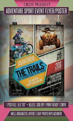 Adventure Sport Event Flyer / Poster Template PSD
