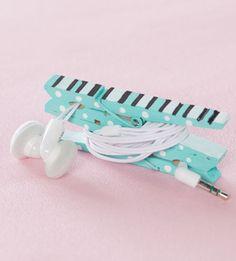 DIY Ear Buds Keeper Easy Holiday Gift Idea