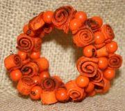 Orange Peel Spiral Bracelet Orange
