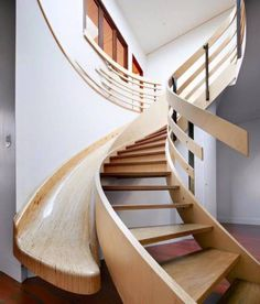 Will have stairs with a slide one day