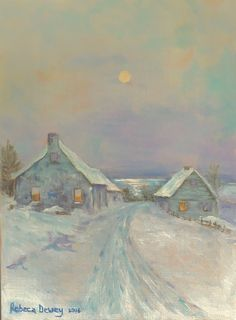"Rebeca Dewey - Study of Birge Harrison's ""Christmas Eve"""