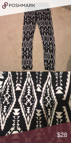 Grey Aztec Print Leggings Sparkle And Fade urban Outfitters Size Small High Resilience