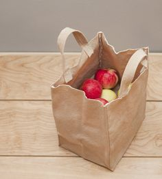 Brown Canvas Tote Bag with Handles | Home Kitchen & Pantry | WAAM Industries | Scoutmob Shoppe | Product Detail