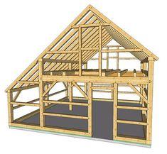 New England Barn - Warren Gardener's Barn Tiny House Cabin, Tiny House Plans, Cabin Homes, Shed Design, Roof Design, Tiny House Design, A Frame Cabin, A Frame House, Casa Bunker