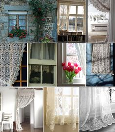 Lovely Lace Curtains (http://blog.hgtv.com/design/2013/08/16/daily-delight-lovely-lace-curtains/?soc=pinterest)