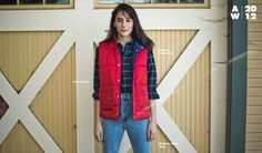 Anna is wearing the Flannel Button-Up and the coming soon Perfect Vest by #AmericanApparel.  #Anna #vest #layers #flannel #plaids #winter