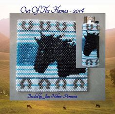 Check out our peyote lighter cover patterns selection for the very best in unique or custom, handmade pieces from our shops. Bead Loom Patterns, Peyote Patterns, Beading Patterns, Beaded Banners, Lighter Case, Horse Pattern, Native Beadwork, Peyote Beading, Native American Beading