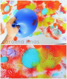 Arte para niños utilizando GLOBOS | #Artividades
