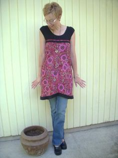 The t-skirt...combine a t-shirt with an old skirt and make an adorable tunic...upcycling at its best!