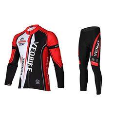 Offerta di oggi - Asvert Abbigliamento Ciclismo Set Abbigliamento sportivo  per bicicletta Outdoor Maglia manica lunga 224f0accf67