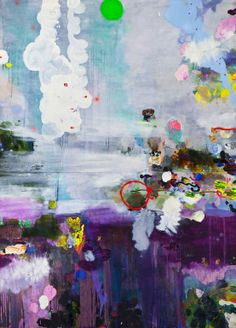 """Saatchi Art Artist: Magdalena Sadziak; Oil 2009 Painting """"Weisse Wirbel / White Swirl"""""""