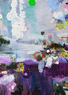 """Saatchi Online Artist: Magdalena Sadziak; Oil 2009 Painting """"Weisse Wirbel / White Swirl"""""""