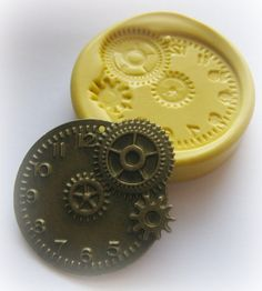 Gears Clock Steampunk Mold Gothic Jewelry DIY by WhysperFairy, $5.95