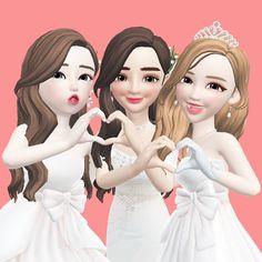 Disney Phone Wallpaper, Wallpaper Iphone Cute, Aesthetic Iphone Wallpaper, Cute Baby Dolls, Cute Babies, Korean Best Friends, Cute Love Cartoons, Bff Pictures, Girl Cartoon