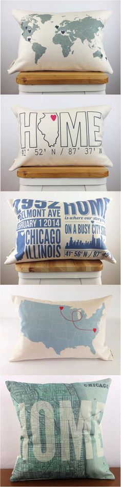 Home is where the custom made, personalized pillow is :)   Made on Hatch.co by independent makers & designers