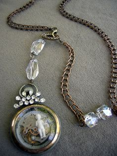 Old Watch Case Necklace