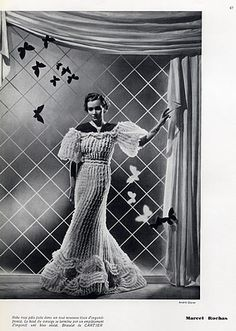 Marcel Rochas 1935 Vestido de Noite, pulseira Cartier, Fotografia de Moda