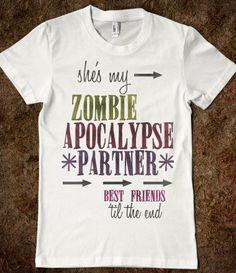 Zombie Apocalypse BFF (Left Side)