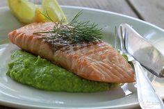 zelená bomba - hráškové pyré Food And Drink, Fish, Meat, Ethnic Recipes, Pisces