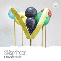 Skispringen Cake Pop Snowboard, Cake Pops, Bronze, Sport, Gold, Biathlon, Ski, Deporte, Sports