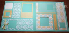 08/05/2013  31 Pages in 31 Days: 8/5/13 + blog candy!   Eastern Elegance DSP. The page looks deceptively simple--all the square frames were done with Squares Collection Framelits.  Many of the frames are popped up with dimensionals. Crisp summery color scheme suggested by the papers--Coastal Cabana, Crushed Curry/Summer Sun, and Whisper White.   Crushed Curry ink, sentiment from the Happy Day stamp set; Simply Pressed clay roses, Canvas Creations to add texture and textiles to this layout.