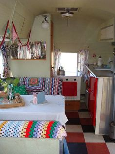 This van is often used for film shoots …. you will be staying in an original iconic Airstream – proper glamping on the Isle of… read more → Vintage Caravan Interiors, Retro Caravan, Camper Caravan, Gypsy Caravan, Vintage Caravans, Vintage Travel Trailers, Vintage Campers, Vintage Airstream, Gypsy Wagon