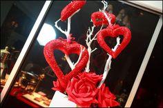 Gorgeous heart centerpieces