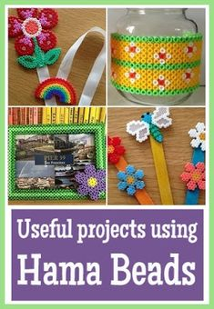 Useful things that you can make using Hama beads Useful projects created using Hama beads Hama Beads Coasters, Mini Hama Beads, Perler Beads, Bead Crafts, Fun Crafts, Crafts For Kids, Creative Arts And Crafts, Creative Play, Craft Tutorials