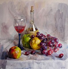 New fruit still life drawing ideas Drawing Artist, Painting & Drawing, Watercolor Paintings, Drawing Drawing, Watercolor Fruit, Fruit Painting, Watercolour, Still Life Drawing, Painting Still Life