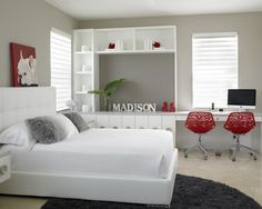 Teen Girl Contemporary Bedroom Pink Brown Design, Pictures, Remodel, Decor and Ideas - page 21