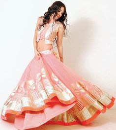 Varun Nidhika Pale Pink #Lehenga.