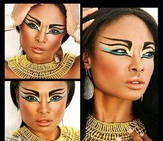 egyptian makeup looks Face Paint Makeup, Sfx Makeup, Costume Makeup, Makeup Art, Beauty Makeup, Makeup Eyeshadow, Cleopatra Makeup, Egyptian Makeup, Arabic Makeup