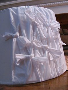 Recovering a lampshade with pillow cases