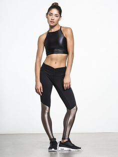 Blessed Legging by CHILL BY WILL in Black/Champagne