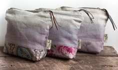 Naturally dyed make-up bags by Emma June Designs. www.emmajunedesigns.co.uk Home Decor Accessories, Lilac, Purses And Bags, June, House Design, Colours, How To Make, Lilac Bushes, Architecture Illustrations