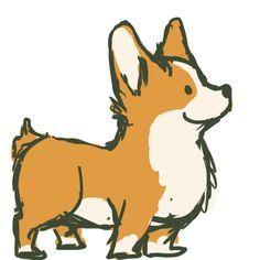 Brynwood Needleworks: Tuesdays With Tag - A Corgi Art Show. Check of their web-site Cartoon Drawings, Animal Drawings, Cute Drawings, Drawing Cartoon Animals, Dog Drawings, Cute Corgi, Corgi Dog, Corgi Drawing, Cute Dog Drawing