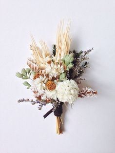 wedding beauty preparation Beautiful and long lasting boutonniere with winged everlasting, dried oregano wheat, and assorted dried flowers. Two boutonniere pins included. Please include your event date in the notes at checkout. Floral Wedding, Fall Wedding, Wedding Bouquets, Rustic Wedding, Wedding Flowers, Wedding Shoes, Green Wedding, Wheat Wedding, Wedding Nails