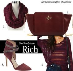 Budget friendly ways to add oxblood in your wardrobe via Tiffany Pinero Style