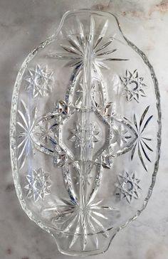 Crystal Glassware, Antique Glassware, Glass Tray, My Glass, Vintage Dishes, Antique Dishes, Vintage Kitchen, Vintage Plates, Anchor Hocking Glassware
