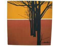 Branch Out - Vintage Scuda Graphic Fabric Panel, via Etsy.