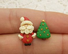 Christmas Earrings - Santa Earrings - Xmas Earrings - Christmas Gift - Christmas Jewelry - Holiday Gifts - Secret Santa Gift