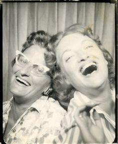 ** Vintage Photo Booth Picture **   Love these two!